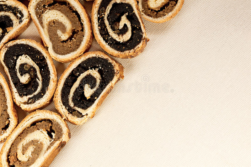 Hungarian traditional cake beigli or bejgli 1 stock photos