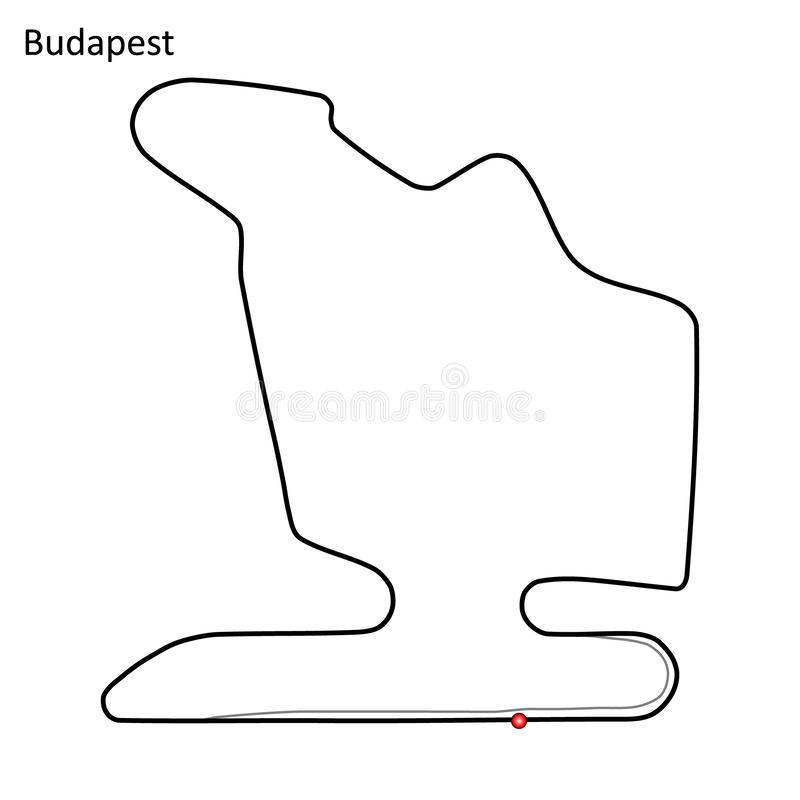Hungaroring vektorillustration royaltyfri illustrationer
