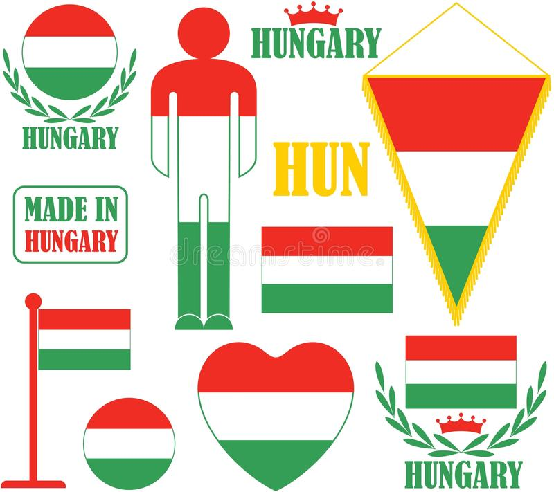 hungary vektor illustrationer