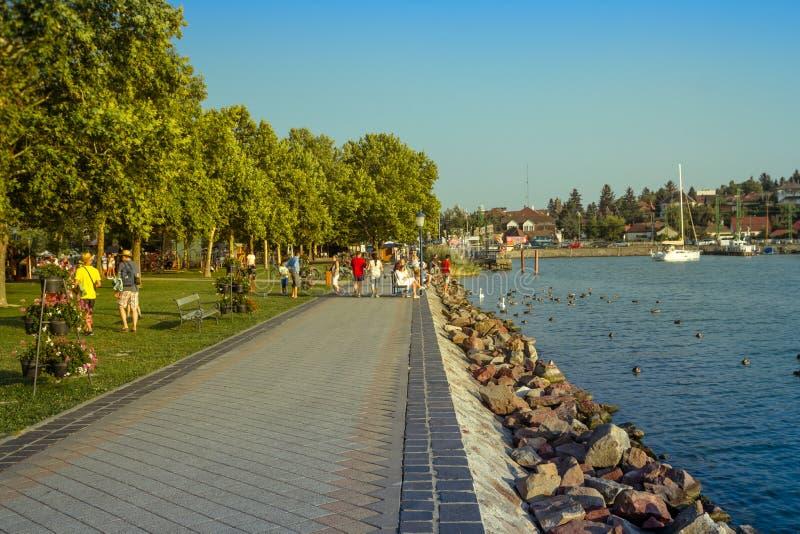 hungary Balaton - 24 juillet 2018 Soirée chez le Lac Balaton photos libres de droits