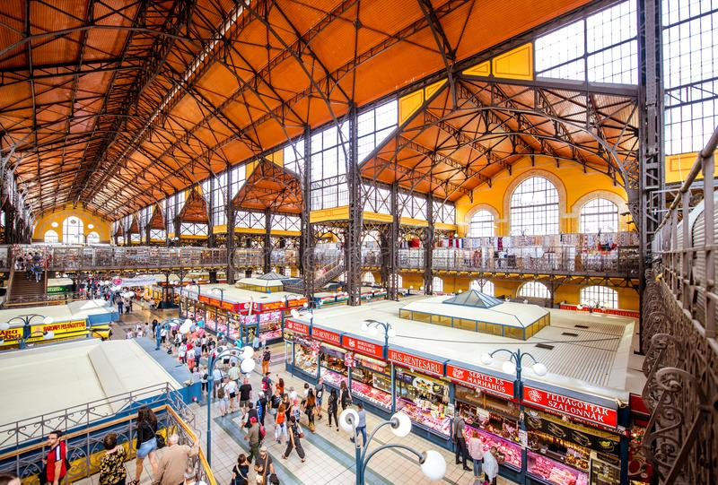Great Market hall in Budapest stock photo