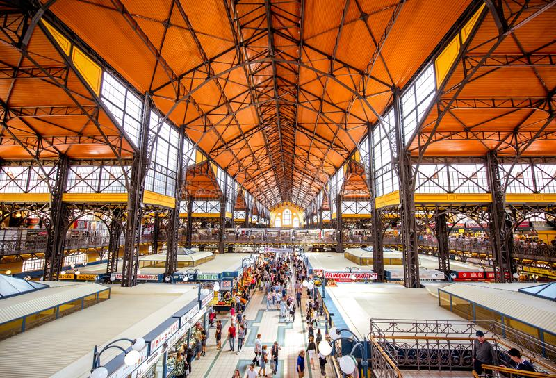 Great Market hall in Budapest royalty free stock photo