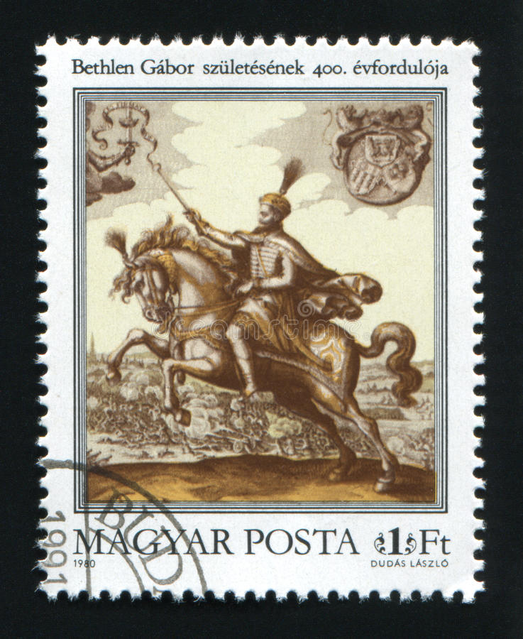 HUNGARY - CIRCA 1980: A postage stamp printed in Hungary, shows royalty free stock photography