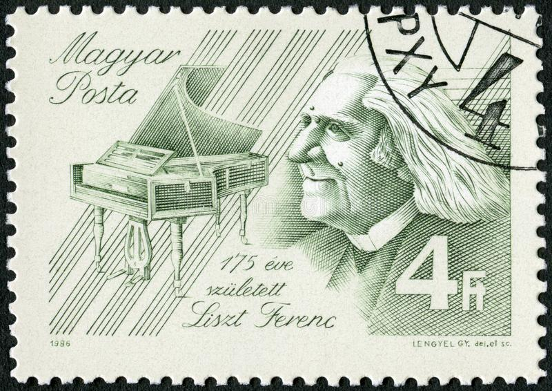 HUNGARY - 1986: shows Franz Liszt 1811-1886, Composer stock image
