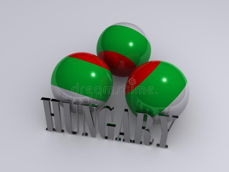 Download Hungary flag stock illustration. Illustration of flag - 6749930
