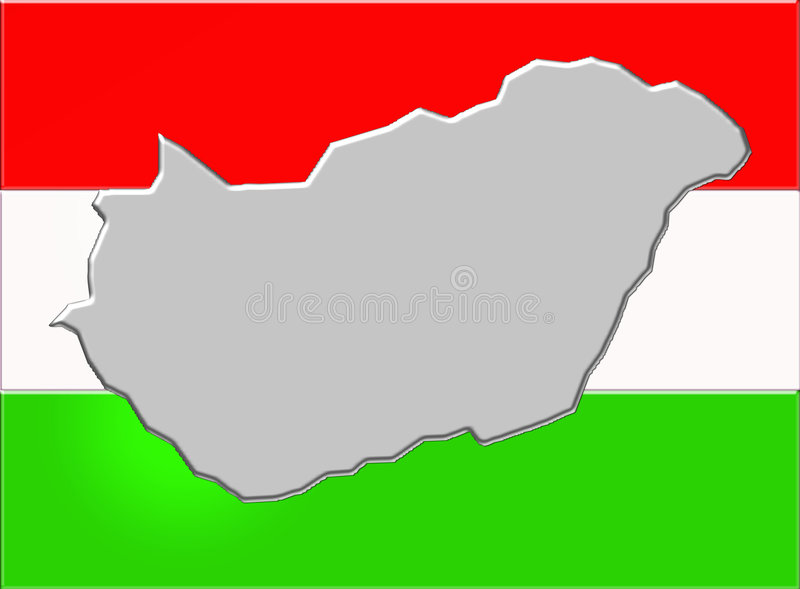 Hungary and flag