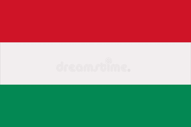 Hungary flag vector. Hungary flag Europe country vector royalty free illustration