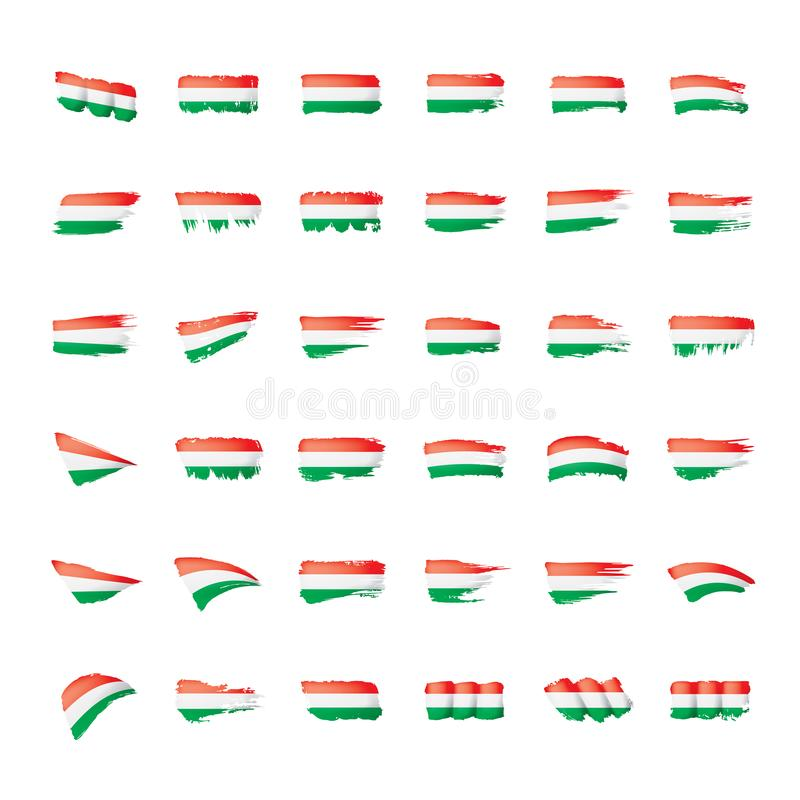 Hungary flag, vector illustration on a white background.  vector illustration