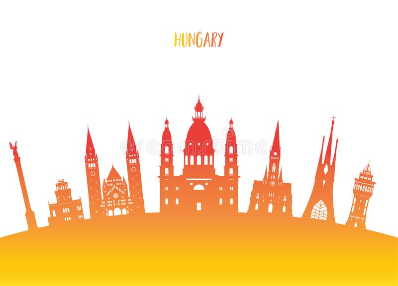 Hungary Landmark Global Travel And Journey Paper Background Vector Design Templateused For Your Advertisement Book Banner Template Business Or