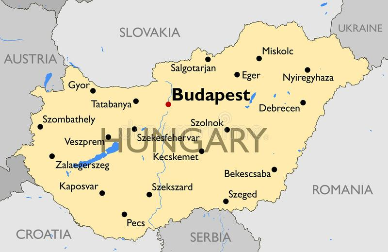 Hungary Map Stock Vector Image Of Hungary Outline Capital - Hungary blank map