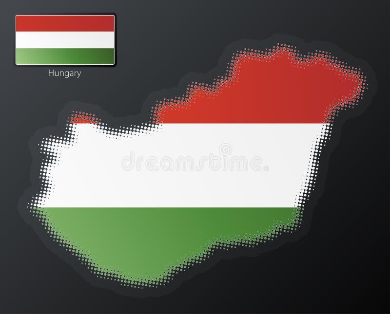 Hungary Modern Halftone Stock Photography