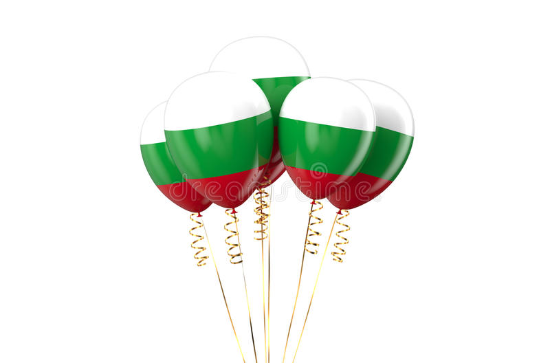 Hungary Republic patriotic balloons holyday concept. Hungary Republic patriotic balloons, holyday concept isolated on white background royalty free illustration