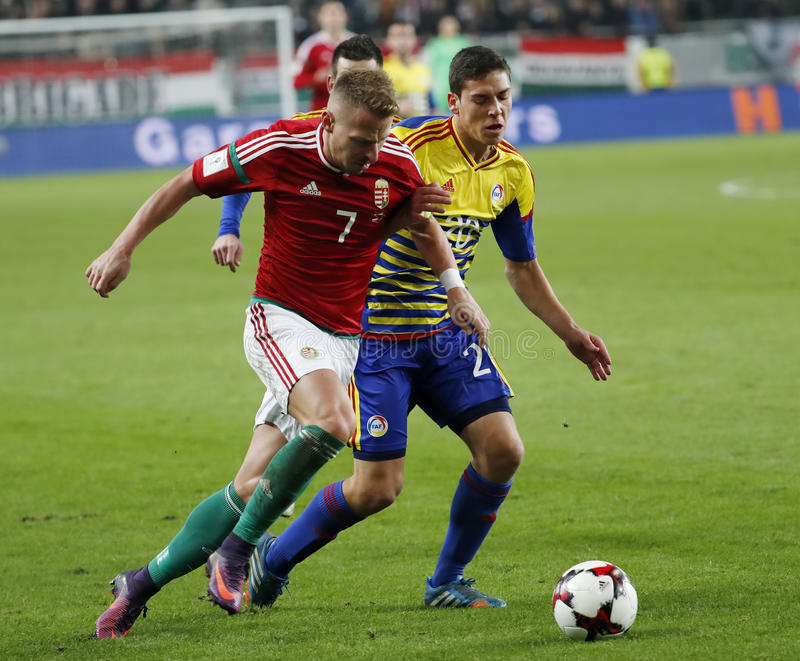 Hungary v Andorra - FIFA 2018 World Cup Qualifier 4-0 stock photo