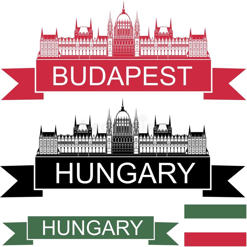 Hungary. Vector illustration (EPS 10 vector illustration