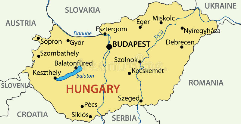 Hungary vector map stock vector Illustration of territory 23422840