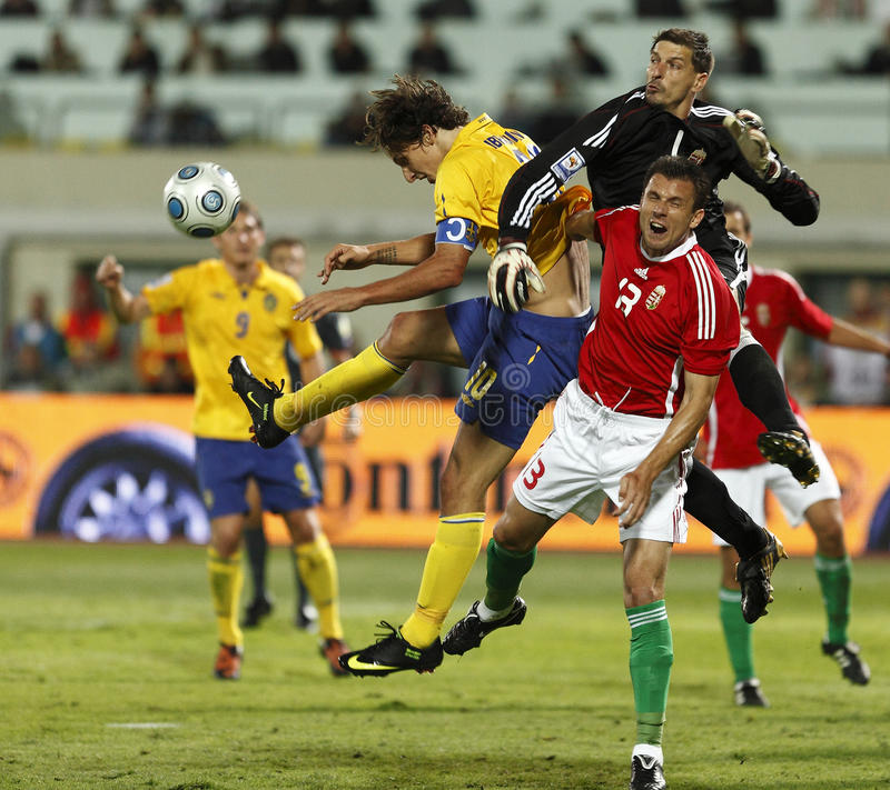Hungary vs Sweden, FIFA World Cup Qualifier stock images