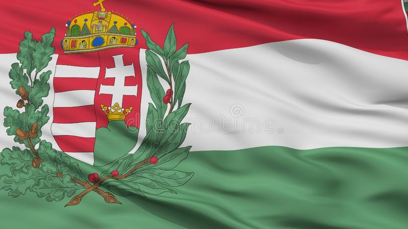 Hungary 1939 1945 War Flag Closeup View. Hungary 1939 1945 War Flag, Closeup View, 3D Rendering royalty free illustration