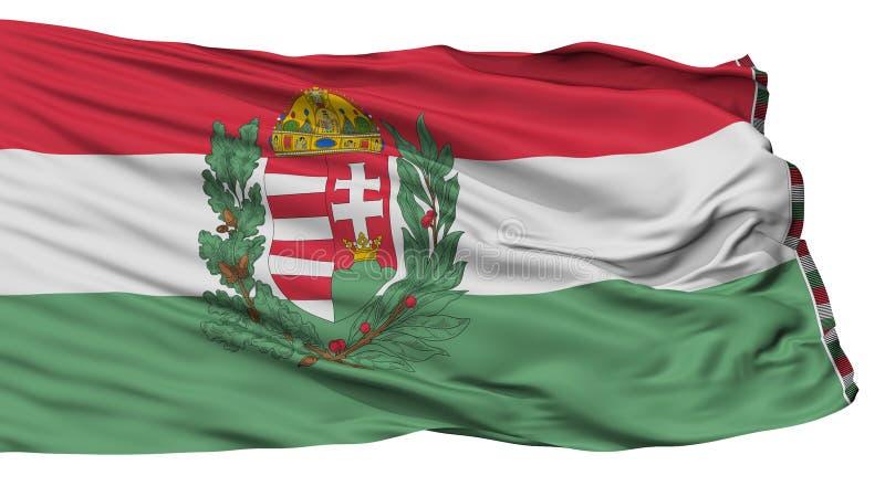 Hungary 1939 1945 War Flag, Isolated On White. Background, 3D Rendering stock illustration