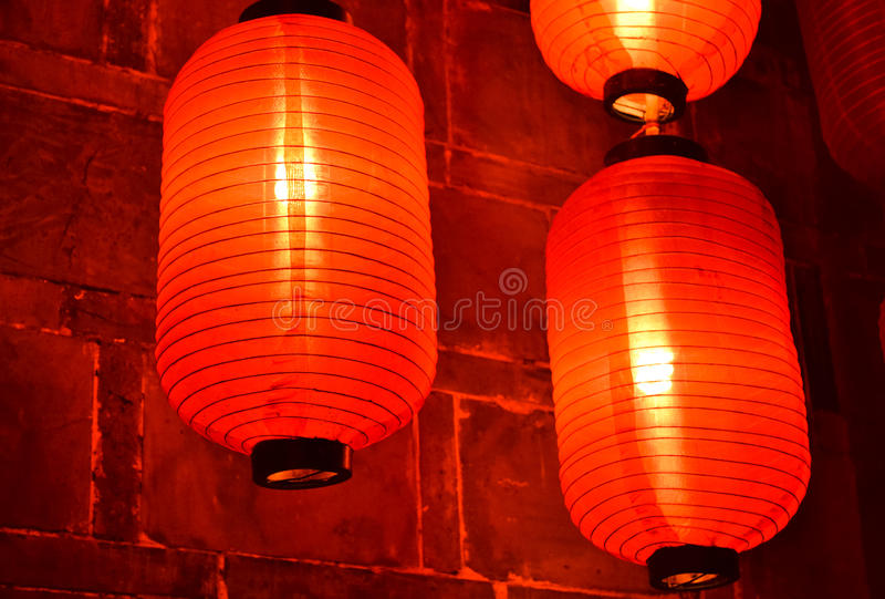 hunged lanterns stock photography