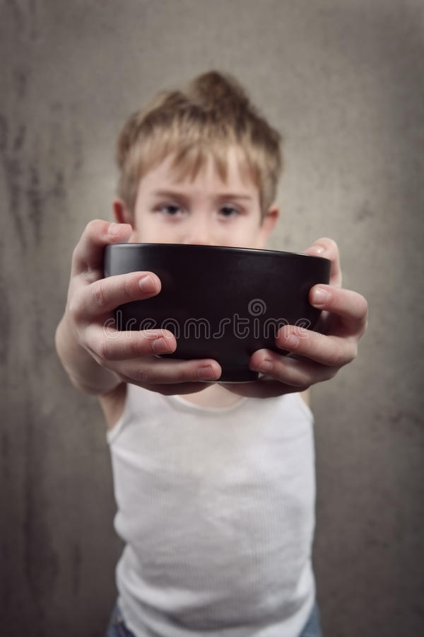 Hunger royalty free stock photo