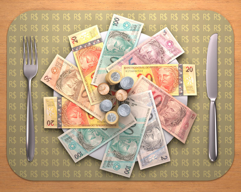 Hunger för pengar stock illustrationer