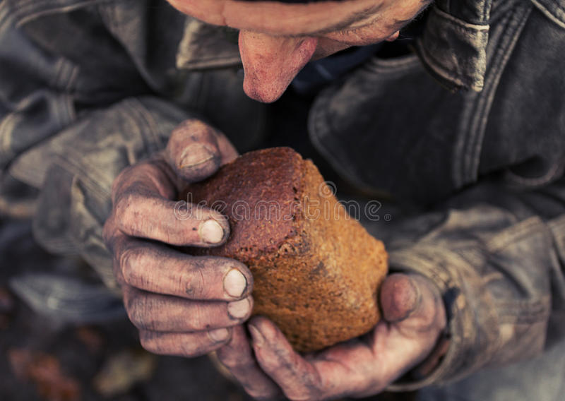 Hunger and poverty royalty free stock photography