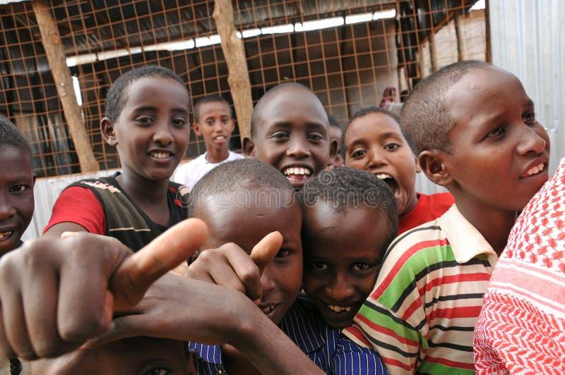 Hunger Refugee Camp stock photos