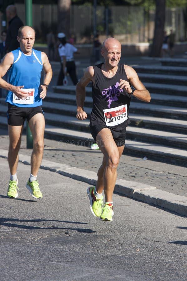 Hunger Run (Rome) - World Food Program - Runners royalty free stock images