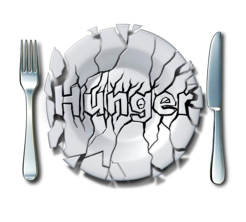 Hunger-und Armut-Konzept stock abbildung
