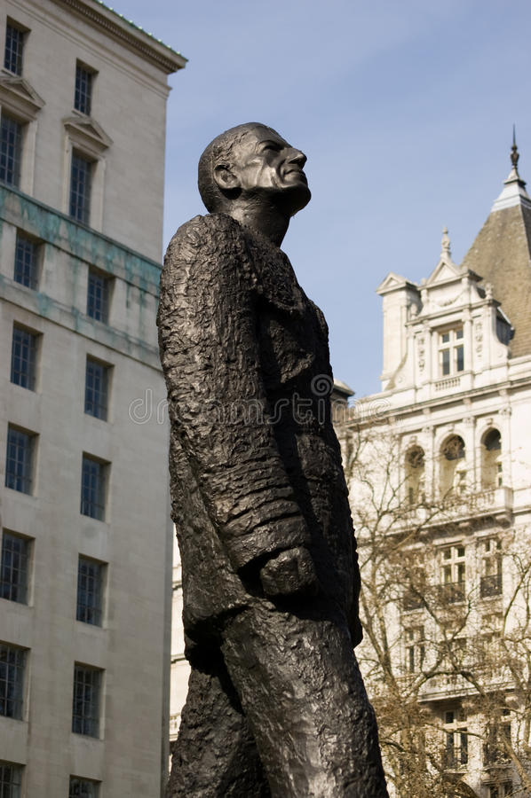 hungerford πύλη άγαλμα Λόρδου στοκ εικόνα