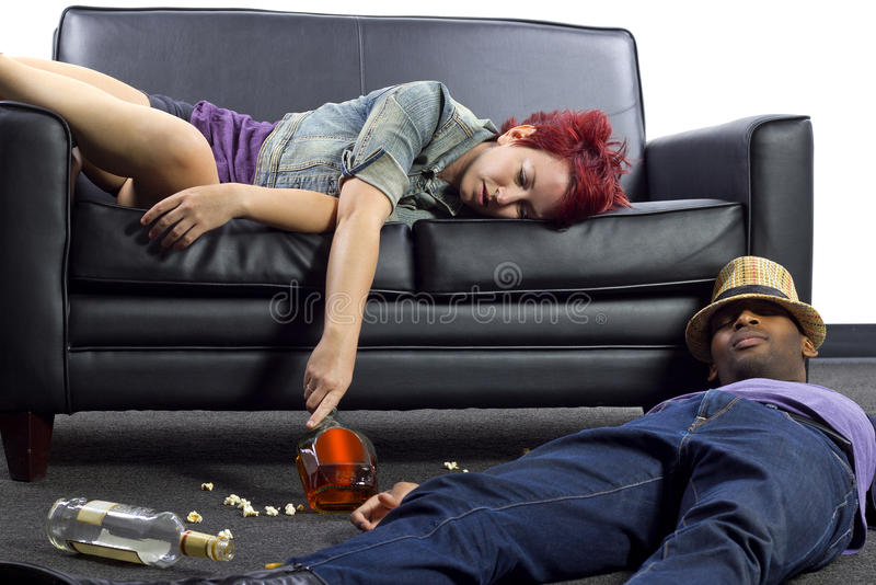 Hungover stock photography