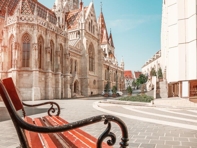 hungria St Matthias Church de Budapest em Budapest imagens de stock
