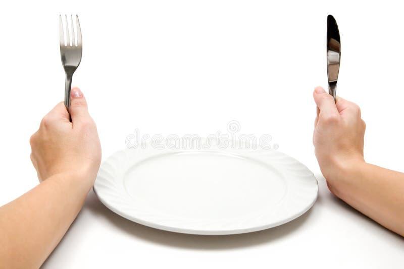 Hungrig stockbild