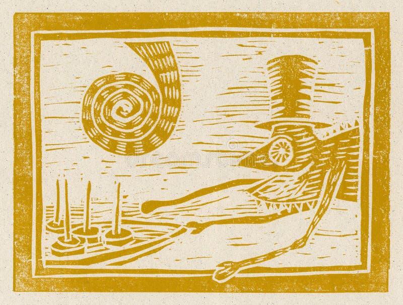 hungrig deltagare för kameleont vektor illustrationer