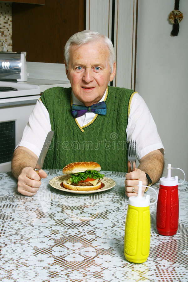 hungrig man royaltyfri fotografi