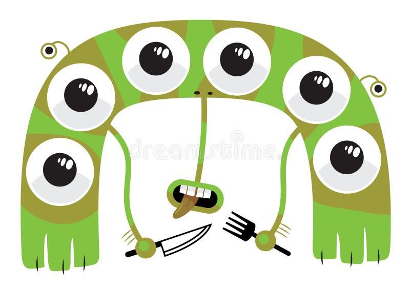 hungrig varelse vektor illustrationer