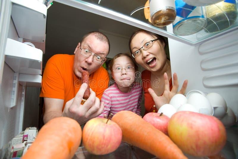 Hungrige Familie lizenzfreie stockfotos