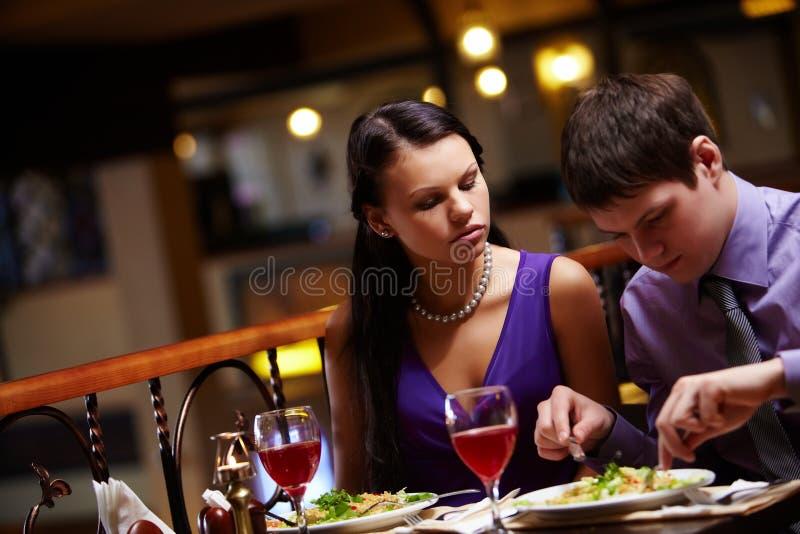 Hungrige Frau lizenzfreie stockbilder