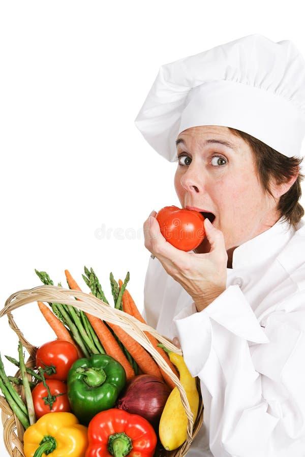 Hungriger Chef lizenzfreie stockbilder