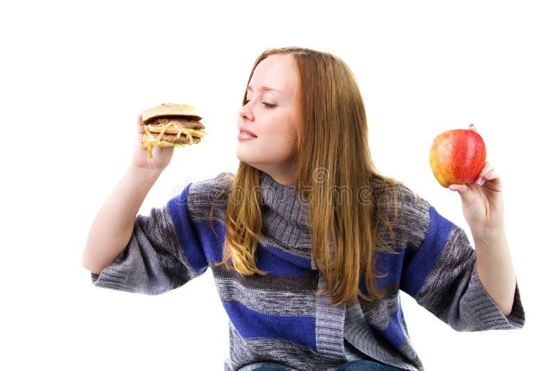 Hungriges Mädchen lizenzfreies stockbild