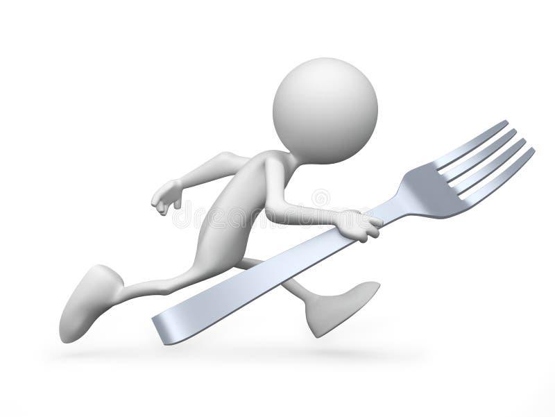 hungrigt I stock illustrationer