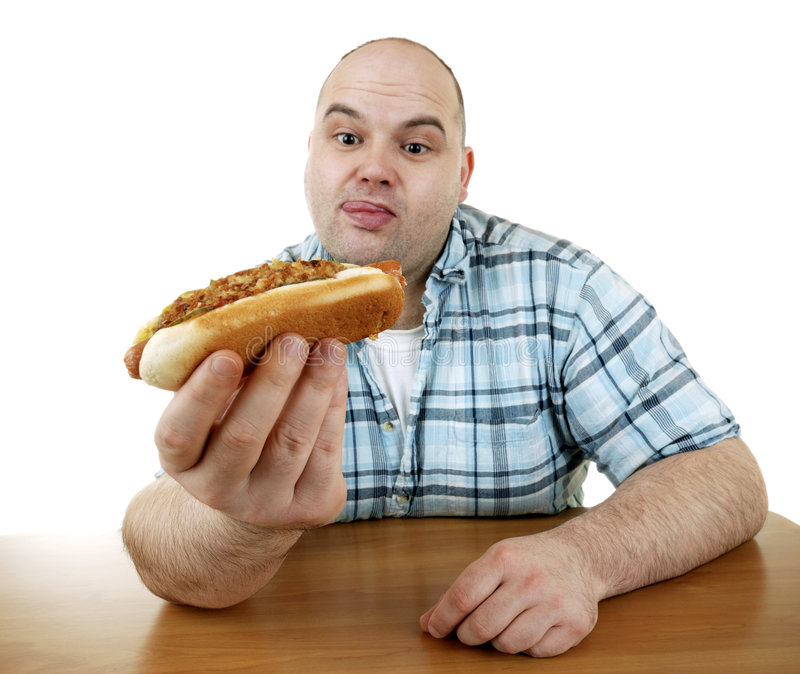 Hungry stock image