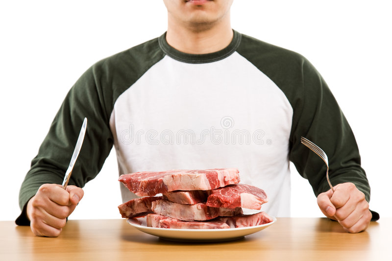 Hungry royalty free stock image