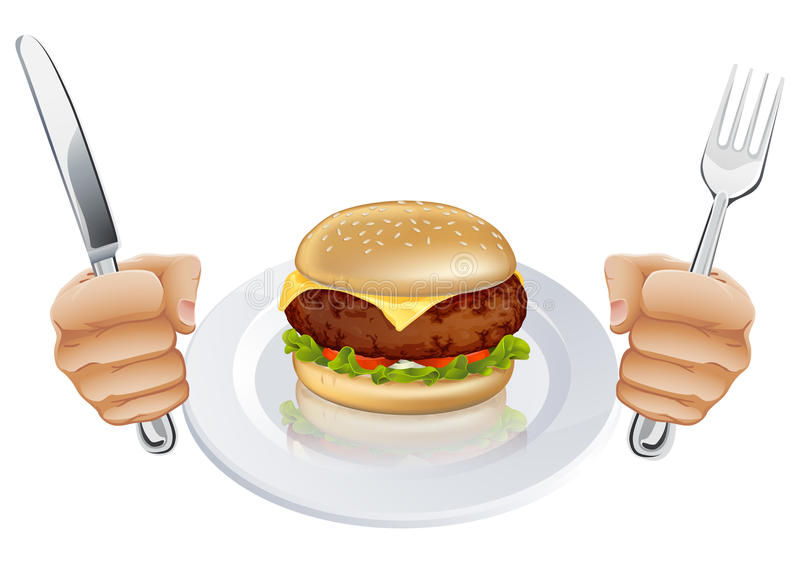 Download Hungry For A Burger Royalty Free Stock Photography - Image: 24786367