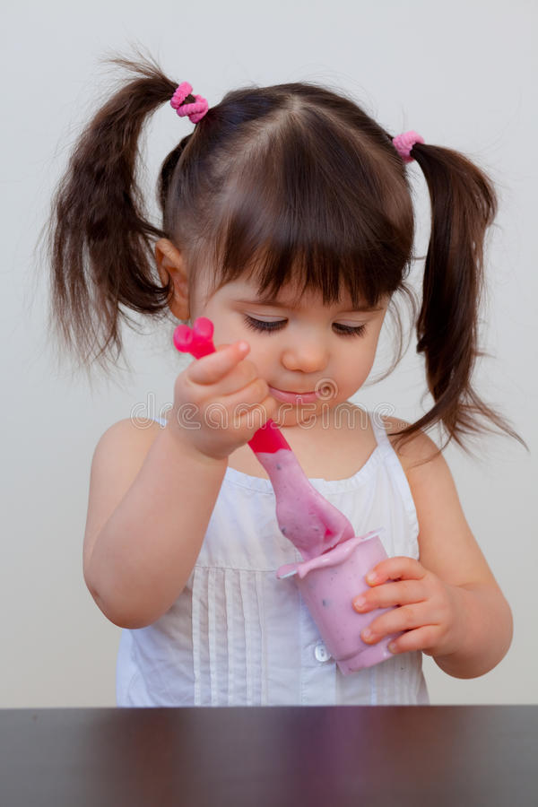 Download Hungry child stock photo. Image of creamy, feed, lunch - 13211440