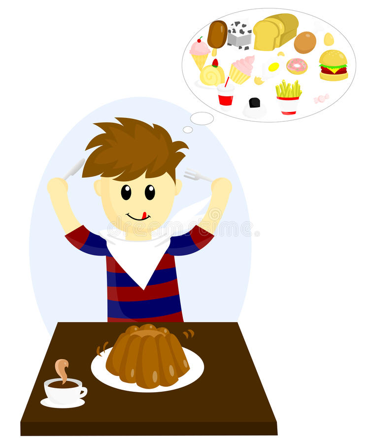 Hungry royalty free illustration