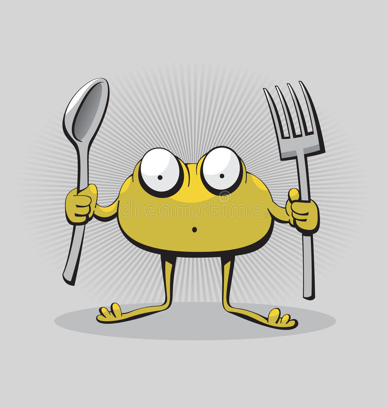 Download Hungry Monster stock vector. Image of surprised, cute - 33884462