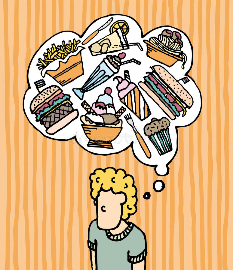Hungry Munchies / Fast Food royalty free illustration