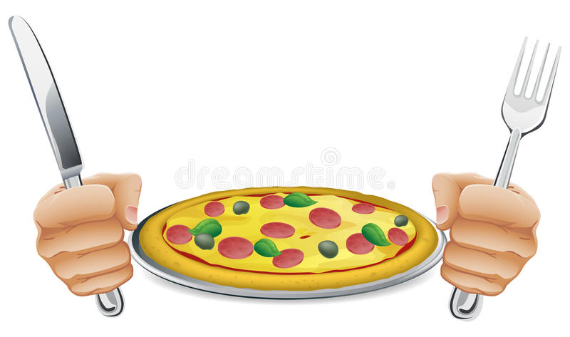 Hungry For Pizza Stock Image