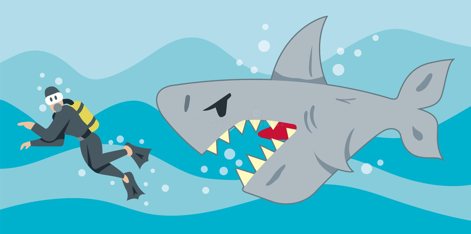 Hungry Shark stock illustration